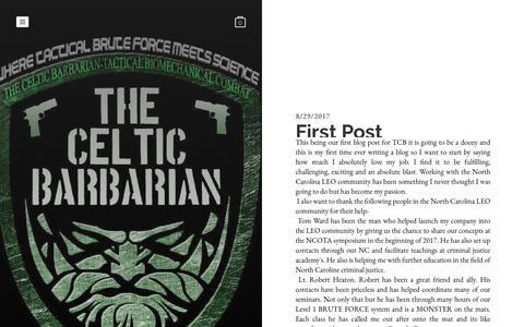 Screenshot of Blog bruteforcesystem.com - Blog - captured April 27, 2018