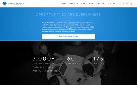 Screenshot of Jobs Page wunderman.com - Careers & Employment | Wunderman - captured Nov. 27, 2016
