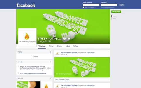Screenshot of Facebook Page facebook.com - The Switching Company | Facebook - captured Oct. 25, 2014