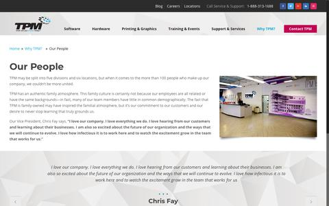 Screenshot of Team Page tpm.com - Our People | Why TPM | Design Technology Company in Greenville, SC - captured Sept. 21, 2018