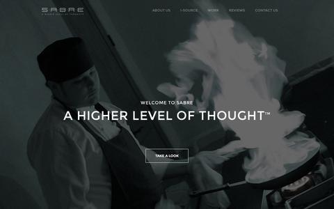 Screenshot of Home Page sabreonline.com - Sabre | Strategic Marketing - captured Jan. 23, 2015