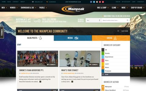Screenshot of Team Page mainpeak.com.au - Staff / Mainpeak - captured Oct. 10, 2014