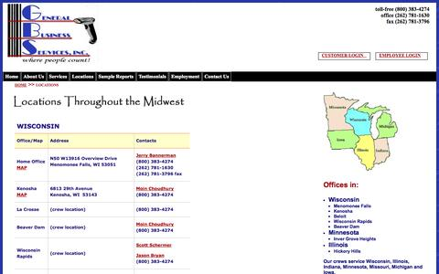 Screenshot of Locations Page countinv.com - Locations - captured Oct. 2, 2014