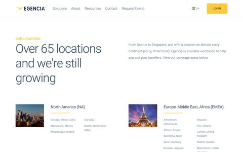 Screenshot of Locations Page egencia.com - Locations - Egencia India - captured Sept. 27, 2018