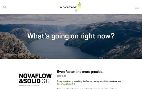 Screenshot of Press Page novacast.se - News - NovaCast - captured Feb. 15, 2016