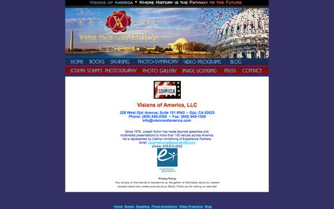 Screenshot of Privacy Page Contact Page visionsofamerica.com - Contact Us - captured Oct. 26, 2014