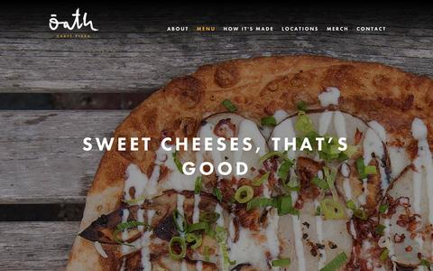 Screenshot of Menu Page oathpizza.com - Menu Offerings - Gluten-Free Crust | Oath Craft Pizza - captured May 7, 2017