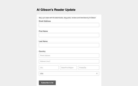 Screenshot of Contact Page list-manage.com - Biographies, Reviews & Interviews that inspire! - captured Nov. 1, 2018