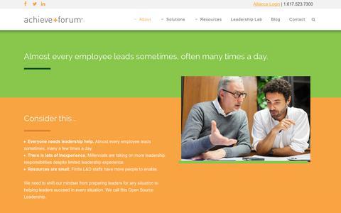 Screenshot of About Page achieveforum.com - The Challenge - AchieveForum - captured June 29, 2018