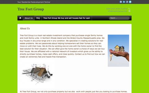 Screenshot of About Page treefortgroup.com - About Us - Tree Fort Group - captured Oct. 7, 2014