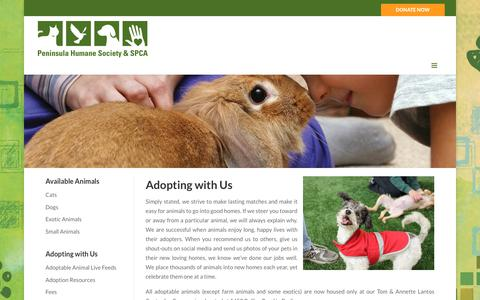 Screenshot of Hours Page phs-spca.org - Adopt - Peninsula Humane Society & SPCA - captured Sept. 27, 2018