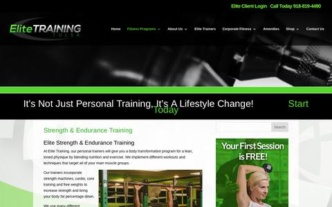 Elite Training Tulsa | Strength & Endurance Training | Elite Training