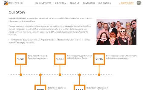 Screenshot of About Page rodenbeck.com - About Us – Rodenbeck Associates - captured Nov. 4, 2017