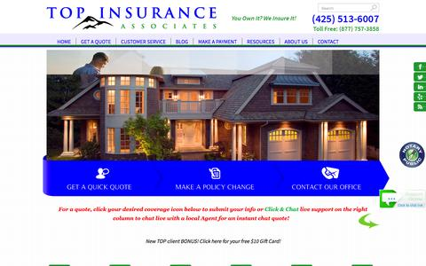 Screenshot of Home Page topinsuranceassociates.com - TOP Insurance Associates LLC - Insurance Brokers; auto, home, business, life, boats. - TOP Insurance Associates - captured Feb. 16, 2016