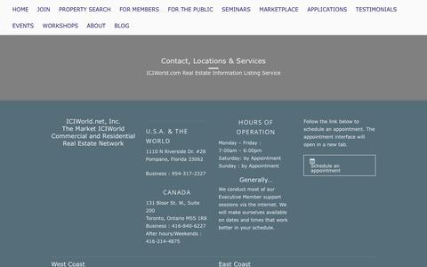 Screenshot of Contact Page iciworld.com - Contact Us | - captured Oct. 1, 2018