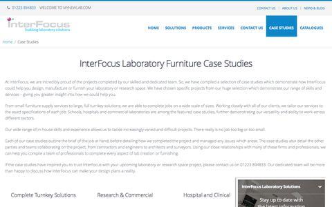 Screenshot of Case Studies Page mynewlab.com - View Our Laboratory Installation Case Studies | Interfocus - captured Nov. 26, 2016