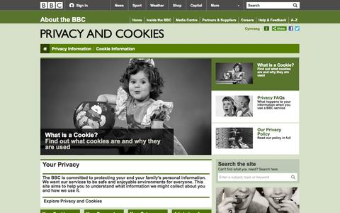 Screenshot of Privacy Page bbc.co.uk - BBC - Privacy & Cookies - Privacy and Cookies - captured Oct. 10, 2014