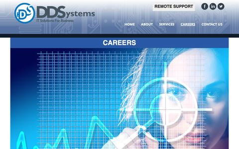 Screenshot of Jobs Page ddsystems.net - Careers - Decisive Data Systems - captured Nov. 24, 2016