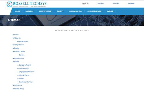 Screenshot of Site Map Page rosselltechsys.com - Sitemap, Rossell Techsys - captured Dec. 20, 2016