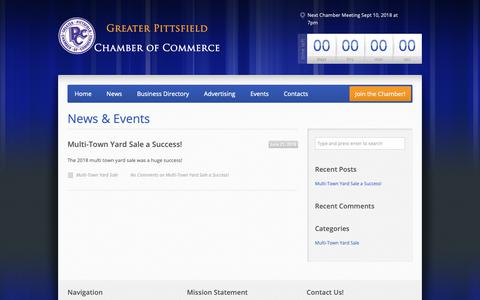 Screenshot of Blog Press Page pittsfieldchamber.org - News & Events – Greater Pittsfield Chamber of Commerce - captured Oct. 21, 2018