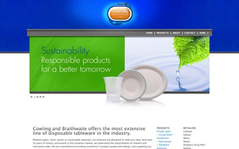 Screenshot of Home Page goodtimesbrand.com - Cowling and Braithwaite - captured Oct. 1, 2014