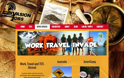 Screenshot of Jobs Page invasionjobs.com - Work, Travel and TEFL Abroad - Invasion Jobs - captured Sept. 30, 2014