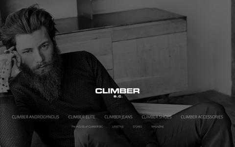 Screenshot of Home Page climberbc.com - 2014 - 2015  Fall & Winter | Climber B.C. - captured Sept. 30, 2014