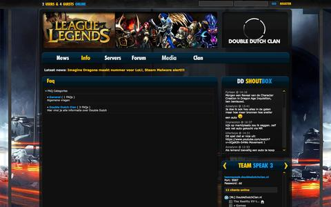 Screenshot of FAQ Page doubledutchclan.nl - DoubleDutchClan.nl - captured Sept. 30, 2014
