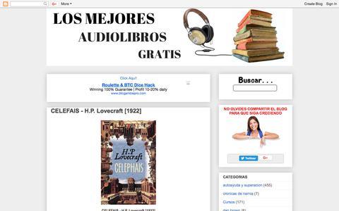 Screenshot of Home Page losmejoresaudiolibrosgratis.blogspot.com - LOS MEJORES AUDIOLIBROS GRATIS - captured Sept. 23, 2018
