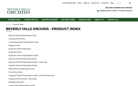Screenshot of Products Page beverlyhillsorchids.com - Los Angeles Florist & Online Orchid Delivery | Beverly Hills Orchids - captured Nov. 6, 2018