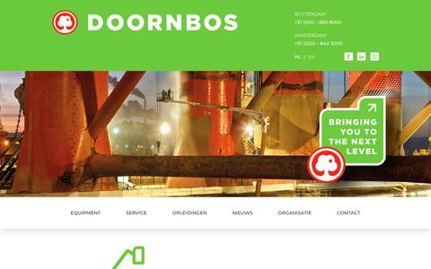 Screenshot of Home Page doornbosequipment.com - Hoogwerker huren - Doornbos Equipment : Doornbos Equipment - captured Feb. 23, 2018