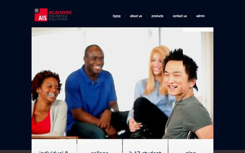 Screenshot of Home Page aisstudentinsurance.com - Academic Insurance Solutions | - captured Oct. 4, 2014