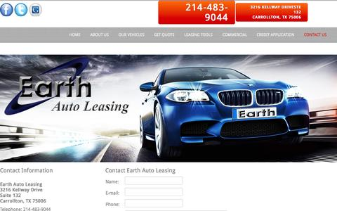 Screenshot of Privacy Page Contact Page earthautoleasing.com - Contact Us - captured July 18, 2015
