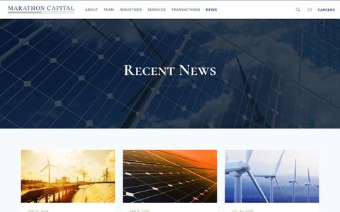 Screenshot of Press Page marathon-cap.com - Recent News about Marathon Capital and the Energy Industry - captured Oct. 16, 2018