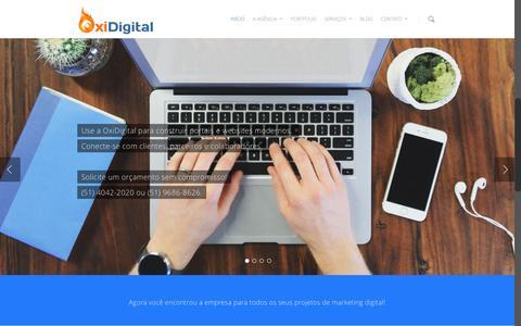 Screenshot of Home Page oxidigital.com.br - OxiDigital - Marketing Digital/Criação de Sites - Porto Alegre / RS - captured Feb. 15, 2016