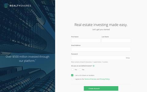 RealtyShares - Online Real Estate Investment Platform, Crowdfunding for Real Estate