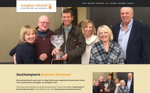 Screenshot of Press Page maughanmitchell.co.uk - News : Maughan Mitchell Chartered Surveyors - captured Jan. 9, 2016