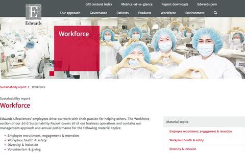 Workforce – Edwards – Sustainability