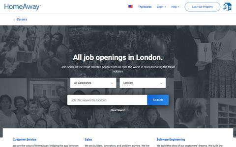 Screenshot of Jobs Page homeaway.com - Jobs at HomeAway - captured May 30, 2018