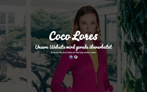 Screenshot of Home Page coco-lores.com - COCO LORES - captured April 23, 2016