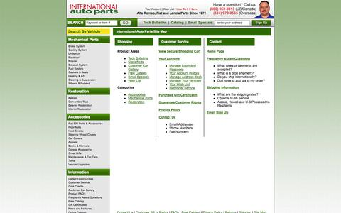 Screenshot of Site Map Page international-auto.com - Site Map - International Auto Parts - captured Oct. 27, 2014