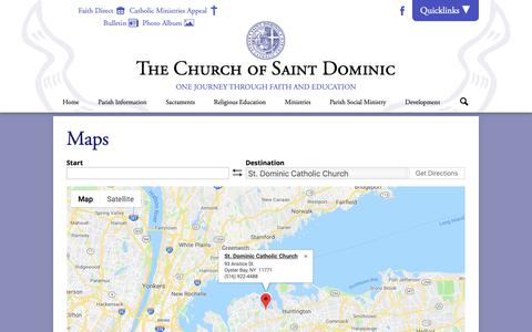 Screenshot of Maps & Directions Page stdoms.org - Maps | St. Dominic Catholic Church - captured Oct. 18, 2018