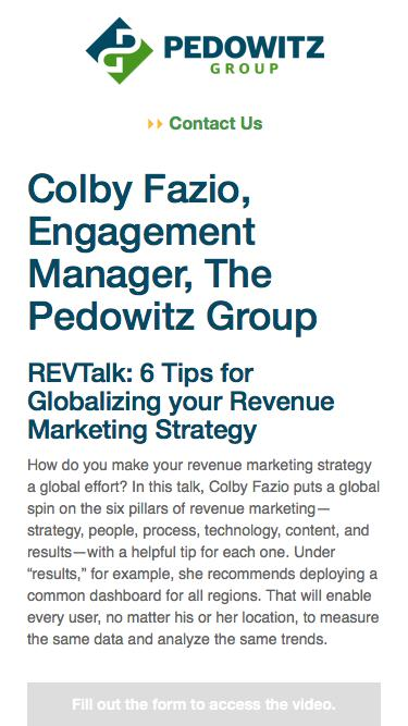 REVTalk: 6 Tips for Globalizing your Revenue Marketing Strategy