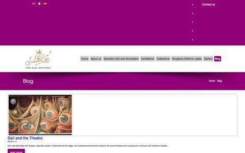 Screenshot of Press Page thedaliuniverse.com - News and Press   The Dalí Universe - captured Nov. 17, 2016