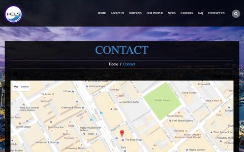 Screenshot of Contact Page hcls.co.uk - Contact  |  HCLS LLP - captured Oct. 3, 2016