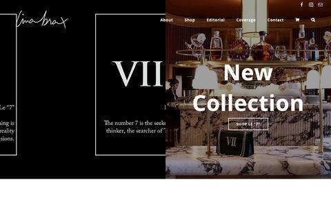 Screenshot of Home Page linabrax.com - Lina Brax – Luxury handbags - captured Oct. 21, 2018