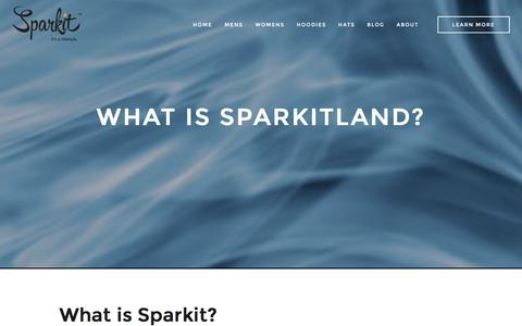 Screenshot of About Page sparkitland.com - What Is Sparkitland | About - captured Feb. 15, 2016