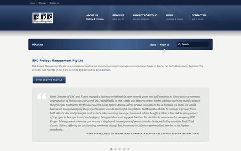 Screenshot of About Page skcpm.com.au - About us «  SKC Project Management Cairns Australia - captured Oct. 3, 2014