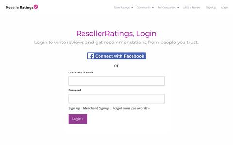Login to your account | ResellerRatings