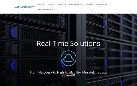 Screenshot of Home Page muratek.com - Muratek NYC | Helpdesk | Web Development | Network | VoIP | Cloud Solutions - captured Aug. 13, 2016